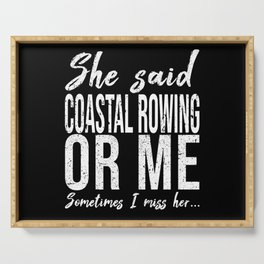 Coastal (Offshore) Rowing sports gift Serving Tray