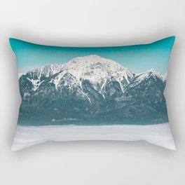 Sea of fog beneath the mountain Rectangular Pillow