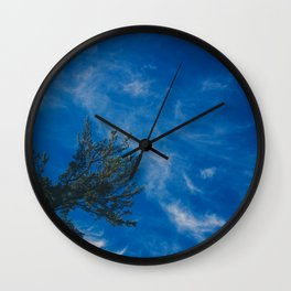 The eagle and the blue sky Wall Clock