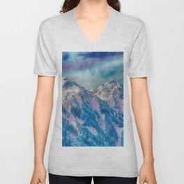 Mountain Peaks Unisex V-Neck