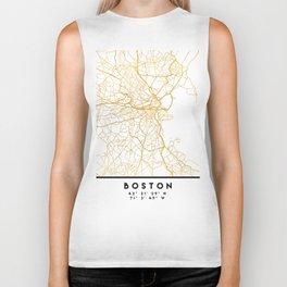 BOSTON MASSACHUSETTS CITY STREET MAP ART Biker Tank
