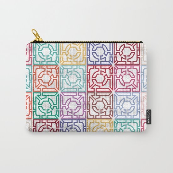 Maze Colorful Seamless Pattern Carry-All Pouch