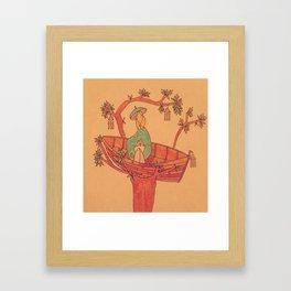 The Rowing Tree Framed Art Print