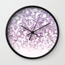 Sparkly Unicorn Glitter Ombre Wall Clock