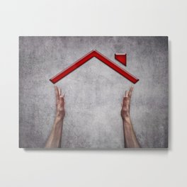 house holding Metal Print