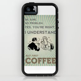 BUT FIRST COFFEE vintage poster iPhone Case