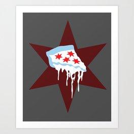 Chicago Deep Dish Pizza Art Print