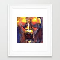 fear Framed Art Prints featuring Fear  by Stevyn Llewellyn