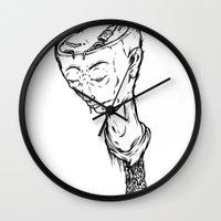 "ramen Wall Clocks featuring ""RAMEN"" by Grantgrimmurray"