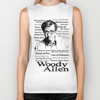 woody allen Biker Tanks featuring Woody Allen by Mark Matlock