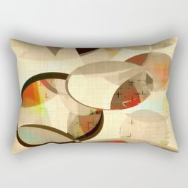 Mod art, circle art, Mid Century Modern Rectangular Pillow