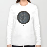 skyrim Long Sleeve T-shirts featuring Shield's of Skyrim - Windhelm by VineDesign
