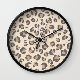 Animal Print Home Decor in Faded Tan by Erin Kendal Wall Clock