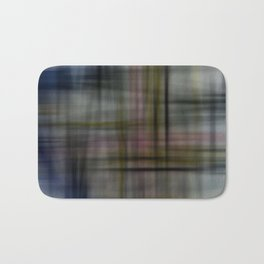 Deconstructed Abstract Scottish Plaid Pattern Bath Mat