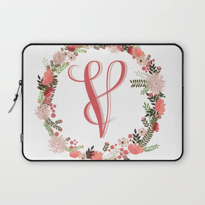 Personal monogram letter v flower wreath laptop sleeve by bettysue personal monogram letter v flower wreath laptop sleeve thecheapjerseys Gallery