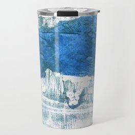 Lapis lazuli abstract watercolor Travel Mug
