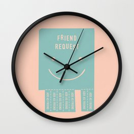 seeking a friend for the end of the world Wall Clock
