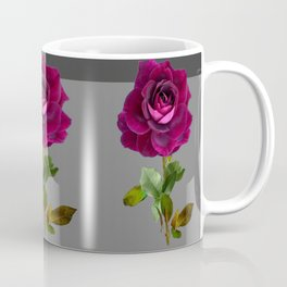 Decorative Purple Velvet  Rose Charcoal Grey Designs Coffee Mug