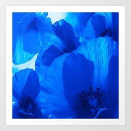 Blue Poppies #decor #society6 #buyart Art Print