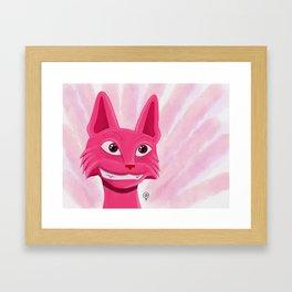 Lollipop the pinky cat Framed Art Print
