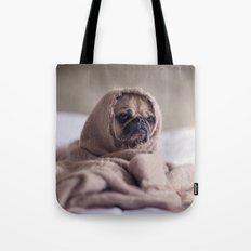 Snug pug in a rug Tote Bag