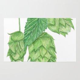 Beer Hop Flowers Rug