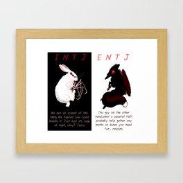 MBTI MUTANT- INTJ / ENTJ Framed Art Print
