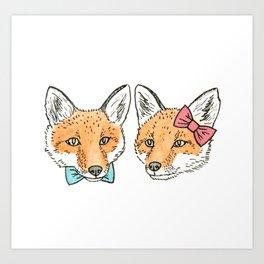 Mr. & Mrs. Fox Art Print