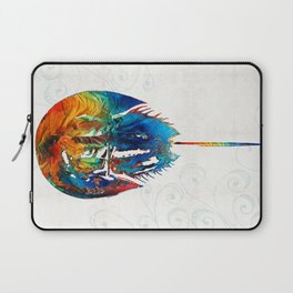 Colorful Horseshoe Crab Art by Sharon Cummings Laptop Sleeve
