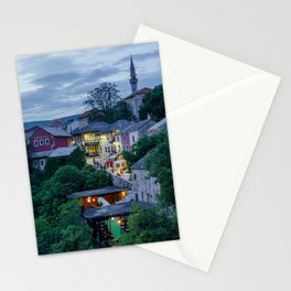 Evening Mostar city  Stationery Cards