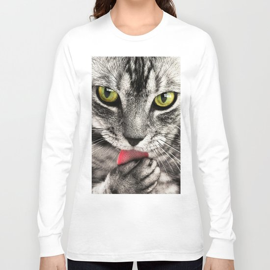 Seductive Cat (Funny) Long Sleeve T-shirt
