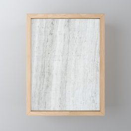 Gray Marble Framed Mini Art Print