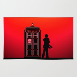 Tardis With The Seventh Doctor Rug