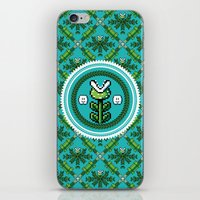 deco iPhone & iPod Skins featuring 8bit Deco by Bubblegun