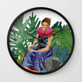 Queen of the greenhouse Wall Clock
