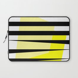 Yellow Abstract Black Stripes Laptop Sleeve