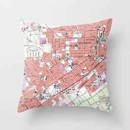 Vintage Map of Riverside California (1967) Throw Pillow
