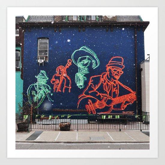 Jazz and snow Art Print