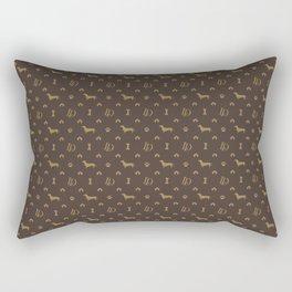 Louis Dachshund Luxury Dog Attire Rectangular Pillow