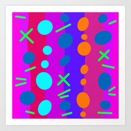 Party Time / Red Art Print