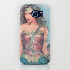 Wonderwoman watercolor Galaxy S8 Slim Case