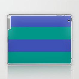 Even Horizontal Stripes, Teal and Indigo, XL Laptop & iPad Skin