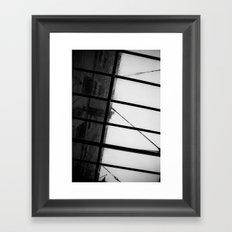 New York & Rain Framed Art Print