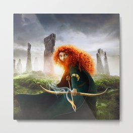 MERIDA THE BRAVE - PORTRAIT MERIDA WITH ARROW Metal Print