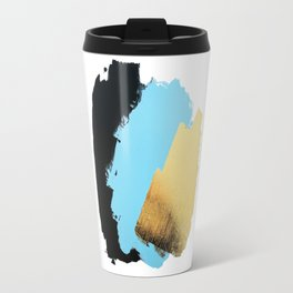 Black, Blue, Gold Travel Mug