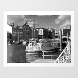 Pleasure boats on the York river Ouse. Art Print
