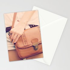 Vintage Leather Bag  Stationery Cards