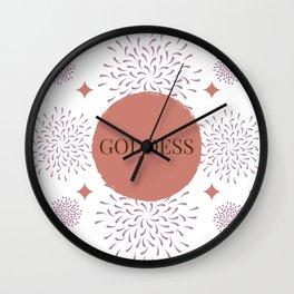 Living Goddess (Pink) Wall Clock