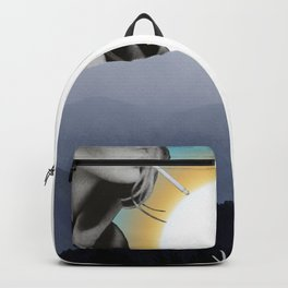 Over The Mountains - Smoking Woman Backpack