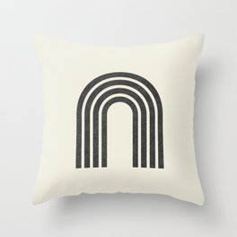 Woodblock arch Throw Pillow